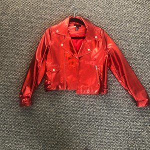 H:ours Metallic Leather Jacket